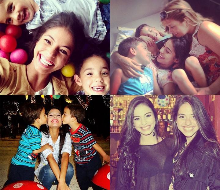 Cynthia e seus irmãos: Jéssica e os gêmeos (Foto: Arquivo Pessoal)