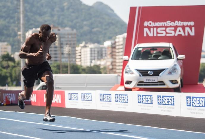 """Usain Bolt treinamento Jockey Club """"Bolt Contra o Tempo"""" sábado (Foto: Divulgação)"""
