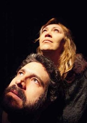 Caco Ciocler e Juliana Galdino em 'Amante' (Foto: Bob Sousa)