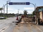 Obras no acesso a Porto Belo devem ser retomadas nesta segunda-feira