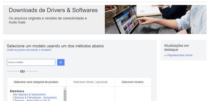 Acesse o site da fabricante do computador e encontre a página do seu modelo (Foto: Reprodução/Barbara Mannara)