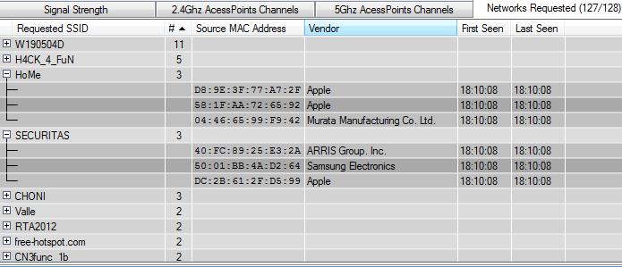 Vendo os registros dos pedidos de conexão feitos na rede selecionada (Foto: Divulgação/Tarlogic Security)