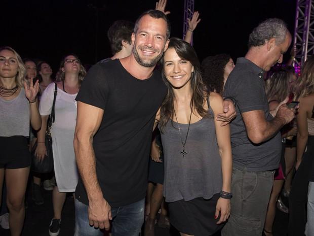 Malvino Salvador e Kyra Gracie em festa no Rio (Foto: Felipe Panfili/ Divulgação)