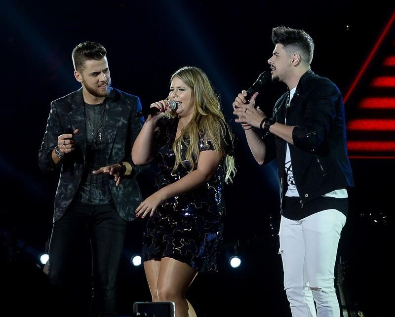 Z Neto e Cristiano convidam Marlia Mendona no single 'Bateria Acabou' (Foto: Francisco Cepeda/Divulgao)