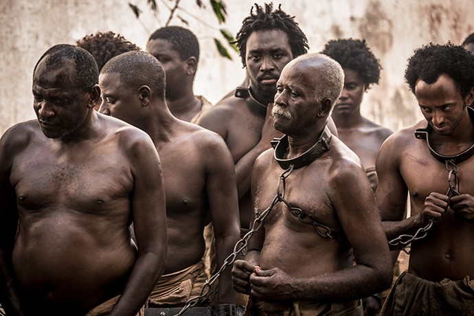 Quem esteve na gravação, teve uma noção do que era o Brasil há 200 anos (Foto: Fabiano Battaglin/Gshow)