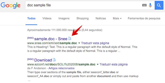 Clique sobre o ícone da extensão para visualizar o arquivo (Foto: Reprodução/Helito Bijora)