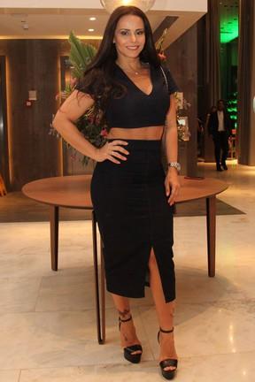 Viviane Araújo em festa em hotel na Barra da Tijuca, Zona Oeste do Rio (Foto: Wallace Barbosa/ Ag. News)