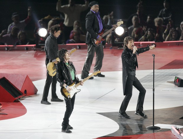 The Rolling Stones no Super Bowl 2006 (Foto: Gregory Shamus / Contributor)