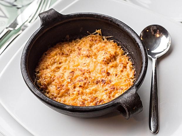 'Centolla' (caranguejo) com creme de leite e gratinado com queijo (Foto: Leonardo Spencer/VLE Gourmet)