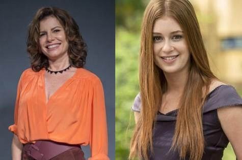 Debora Bloch e Marina Ruy Barbosa (Foto: TV Globo)