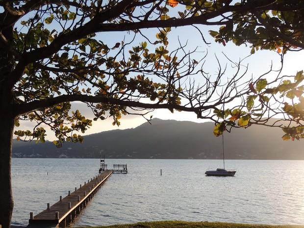 Em Florianópolis fez 10°C ao amanhecer (Foto: Fernanda Burigo/G1)