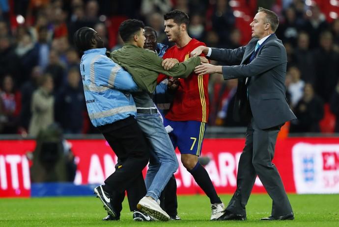 Morata torcedor Espanha Inglaterra (Foto: Reuters)
