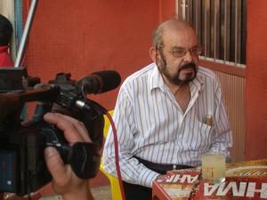Foto gravação Mojica em Mazzaropi o Jeca empreendedor (Foto: Amanda Cotrim)