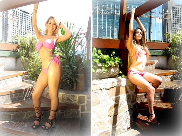 Na véspera do concurso, candidatas fizeram ensaio de biquini em hotel no Rio de Janeiro (Foto: Flávia Rodrigues/ G1)