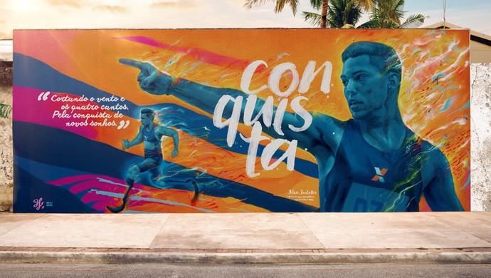 Alan Fonteles atletismo paralímpico grafite Rio 2016 (Foto: Divulgação)