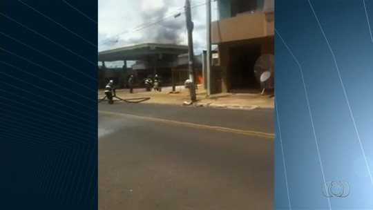 Vídeo mostra posto de combustíveis pegando fogo em Caldas Novas, GO