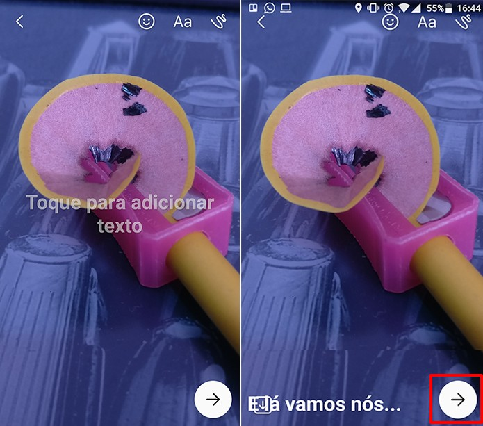 Adicione filtros, textos e adesivos à sua imagem da galeria no Messenger (Foto: Reprodução/Elson de Souza)