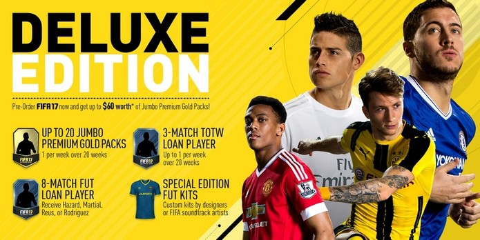 Benefícios da edição de Luxo de Fifa 17 (Foto: Divulgação/EA)