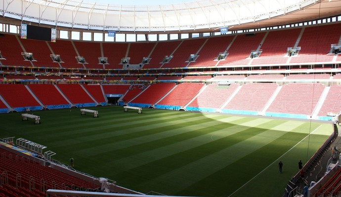 estádio mané garrincha quase pronto para estreia (Foto: Vianey Bentes / TV Globo)