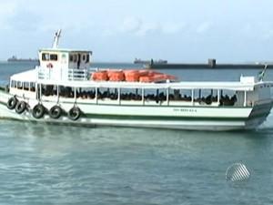 lancha mar grande- salvador; bahia; lancha (Foto: Reprodução/TV Bahia)