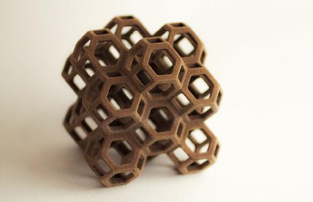 Objeto monocromático de açúcar impressos pela Chefjet, impressora de 3D para doces, lançada pela 3D Systems. (Foto: Divulgação/3D Systems)