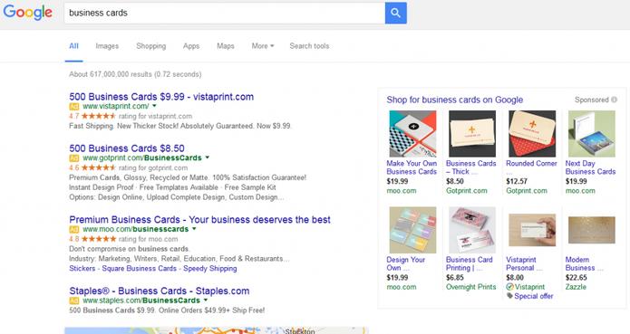 Google muda maneira de mostrar publicidade nas buscas entenda google troca anncios da barra lateral por mais anncios no topo e google shopping foto reheart Choice Image