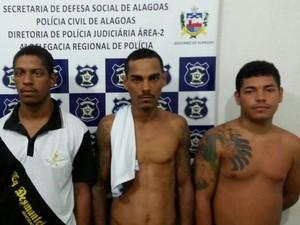 Alexandre, Josemberg, João Mar foram presos na operação (Foto: Divulgação/PC)