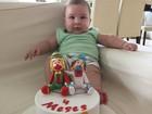 Antônia Fontenelle comemora 4 meses do filho com festinha