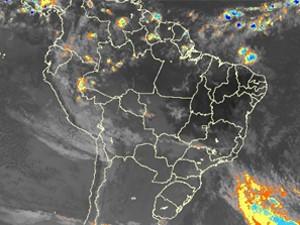 Mapa mostra condições do tempo no Brasil (Foto: Reprodução/CPTEC)