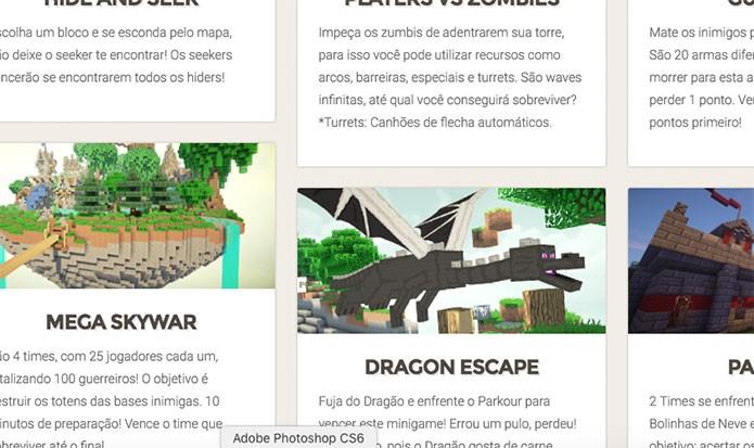 Minecraft Games é focado em minigames diversos (Foto: Reprodução/Felipe Vinha)