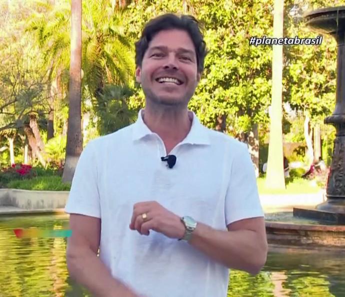 Atualmente, Erik Marmo vive em Los Angeles e apresenta um programa na Globo Internacional  (Foto: TV Globo)