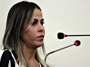 Denise Silva foi baleada em estacionamento de academia em Manaus (Foto: Jamile Alves/G1 AM)