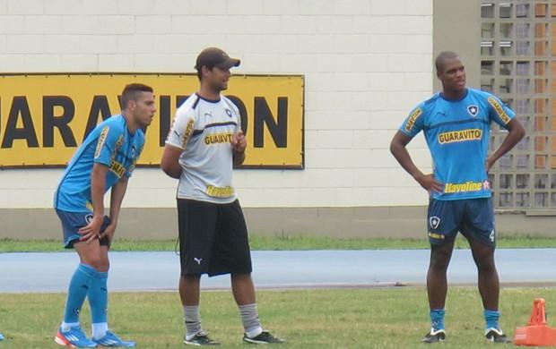 Gabriel e André Bahia botafogo (Foto: Fred Huber)