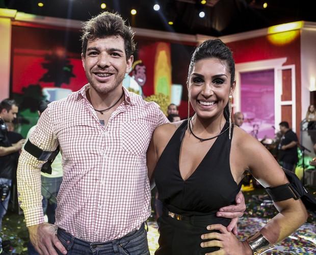 Amanda e Cézar juntos na Final do BBB15 (Foto: Inácio Moraes/Gshow)