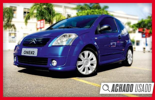 Achado Usado: Citroën C2 VTS à venda no Brasil (Foto: Reprodução)