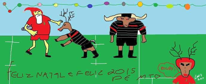 Cartão de feliz 2015 UFSJ Federal Rugby  (Foto: Luiz Alberto Cardoso / Arquivo Pessoal)