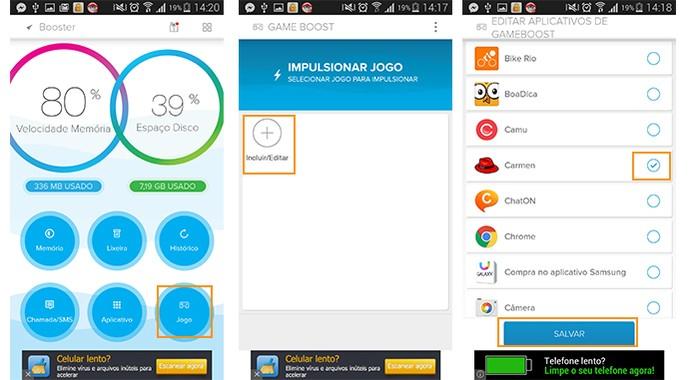 Aumente a potência para jogos mais exigentes com o app Booster (Foto: Reprodução/Barbara Mannara)