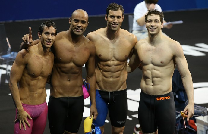 Revezamento 4x100m medley- eliminatórias- Mundial de Doha (Foto: Satiro Sodré/SSPRESS)