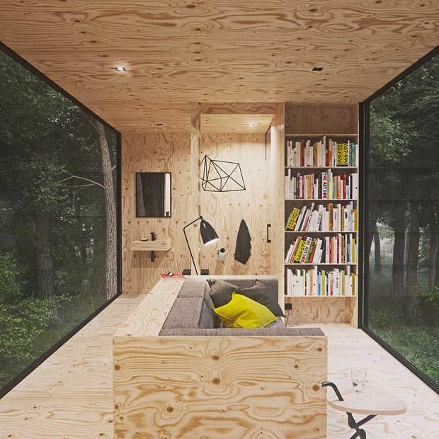 Uma cabana na floresta (Foto: Tomek Michalski / Divulgação )