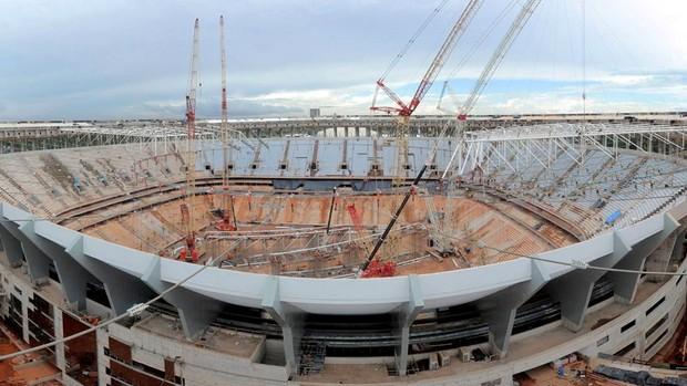 Obras Estádio Nacional Mané garrincha copa 2014 (Foto: Arena)