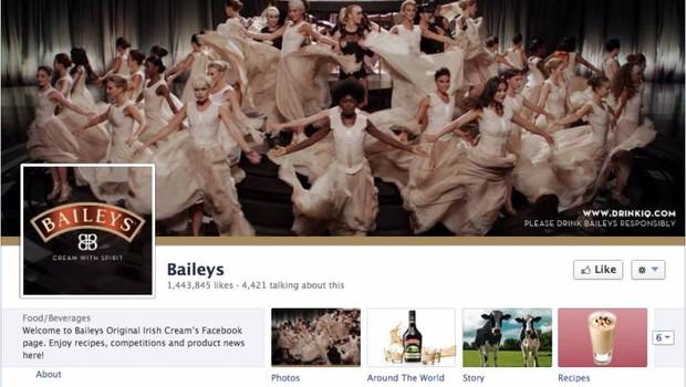 Facebook: Baileys (Foto: reprodução / internet)