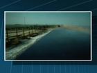 Vídeo mostra mar invadindo propriedade (Reprodução / Inter TV)