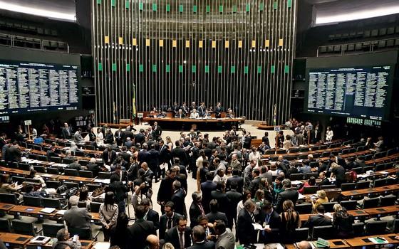 Plenário do Congresso na votação  da nova meta Fiscal (Foto: ANDRÉ DUSEK/ESTADÃO CONTEÚDO)