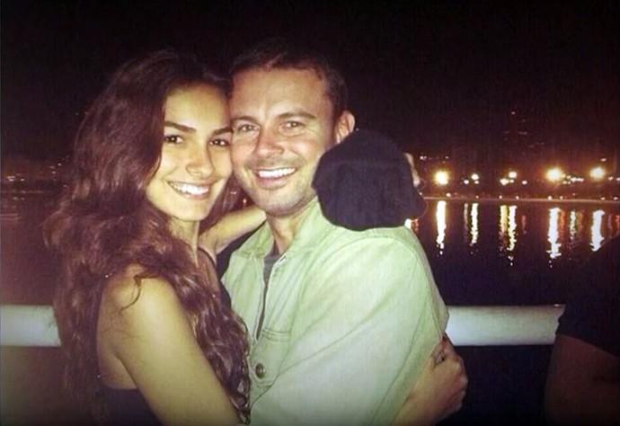 Marina Moschen e o namorado (Foto: Arquivo Pessoal)