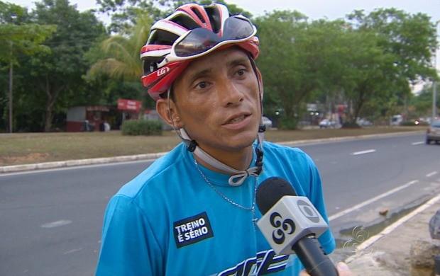 Erlane Santos contou sobre a sua preparação para a corrida (Foto: Amazonas TV)