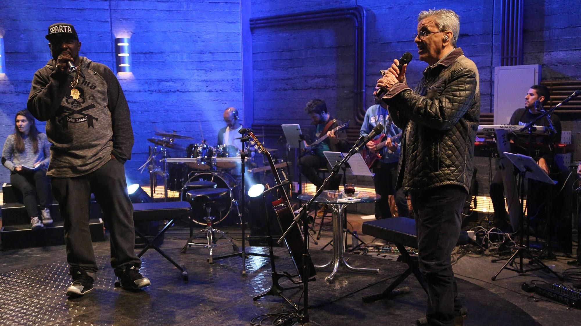 Caetano Veloso  o primeiro convidado de Mr Catra em seu novo programa no Multishow (Foto: Multishow)