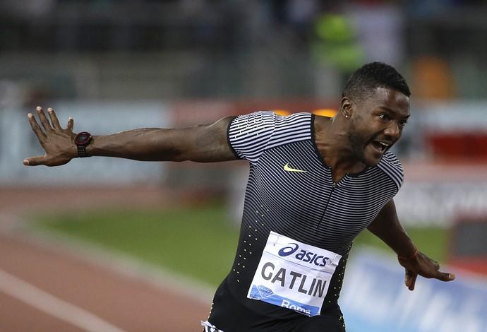Justin Gatlin, 100m, Roma, Diamond League, atletismo (Foto: AP)