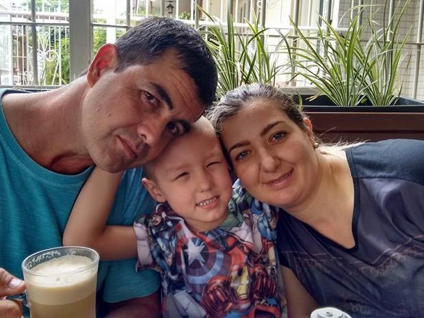 Élio Arthur Susana pais filho câncer São Leopoldo (Foto: Reprodução/Facebook)