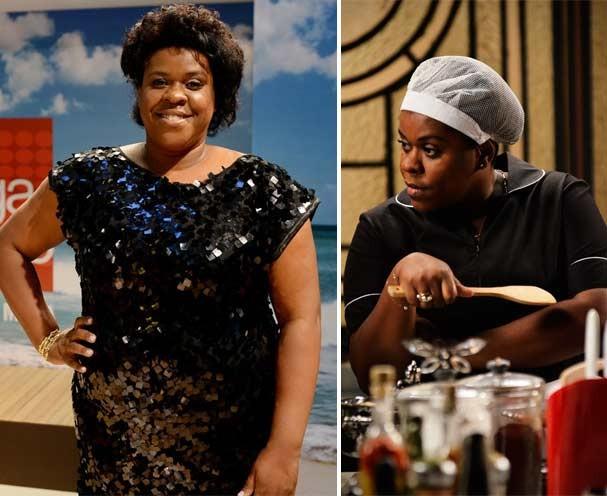 O antes e depois da atriz cacau Protásio (Foto: Divulgação/TV Globo)