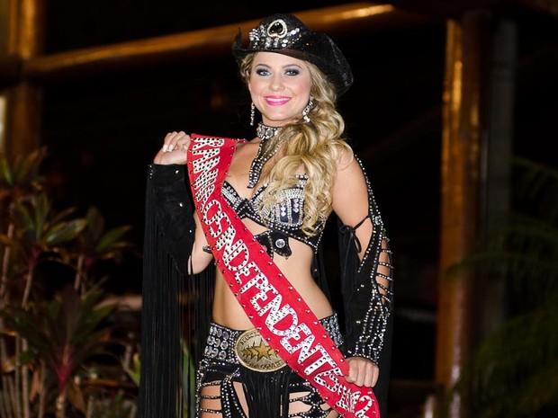 A Rainha de Barretos, Kamila Oliveira (Foto: Érico Andrade/G1)